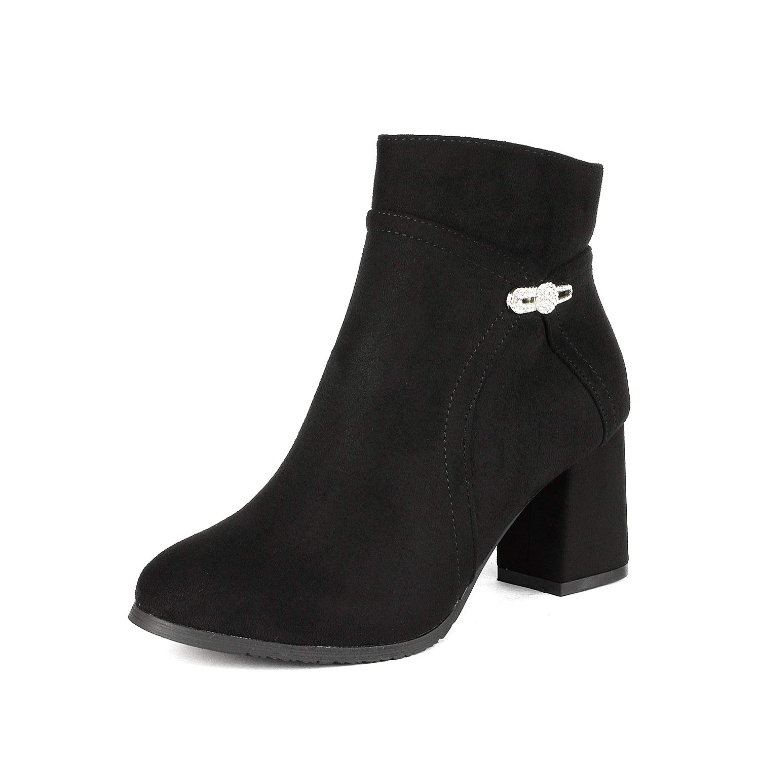 DREAM PAIRS Womens Chunky Bootie