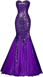 Sweetheart Sequins Prom Dress Mermaid Bridesmaid Homecoming Dresses P5