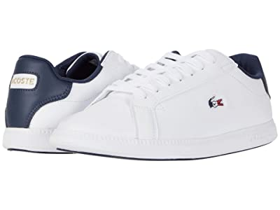 Lacoste Graduate Tri 1 (White/Navy/Red) Women