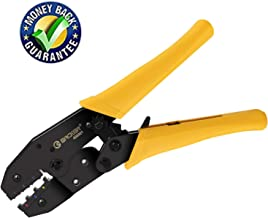 Crimping Tool for Heat Shrink Connectors and Insulated Electrical Connectors, High Precision Wire Crimper, Ratcheting Wire Crimpers Tool,Wire Crimping Tool,Crimping Pliers by Eacker