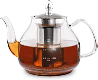 COSORI Glass Teapot with Removable Stainless Steel Infuser,