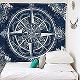 Mandala tapiz hippie bohemio granja colgante de pared dormitorio decoración del hogar sala de estar dormitorio tapiz de pared A3 150x200cm