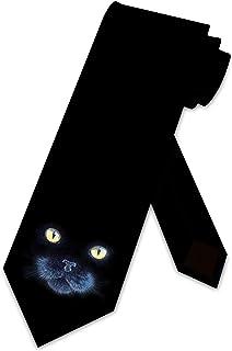 Black Cat Tie Mens NeckTies