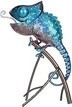 Andoer Escultura Camaleão Ornamento de Animal de Ferro Estilo Animal Selvagem Decoração Interna ou Externa Presente dos Am...