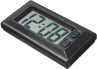 Mini Auto Uhr Ultra Thin,LCD Armaturenbrett Elektronische Uhr Datum mit Kalender Anzeige,Car Elektronische Digitaluhr