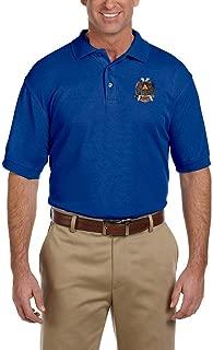 32nd Degree Scottish Rite Embroidered Masonic Men's Polo Shirt
