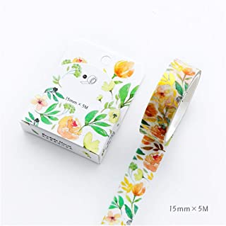 Laser Foil Flowers Animal Japanese Masking Washi Tape Decorative Adhesive Tape Decora DIY Scrapbooking Sticker Label Stationery,14