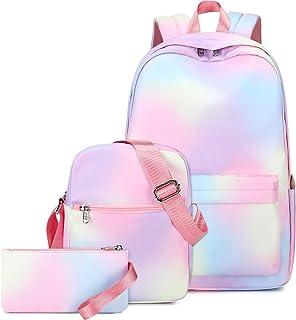 حقائب ظهر مدرسية للفتيات في سن المراهقة قماش خفيفة الوزن مجموعة حقائب الكتب