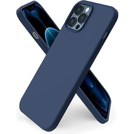 """ORNARTO Custodia Compatibile con iPhone 12 PRO Max Cover 6,7"""", Protezione Completa Cover Sottile in Gomma Gel Morbida con Fodera in Microfibra 6,7 Pollici Deep Navy"""