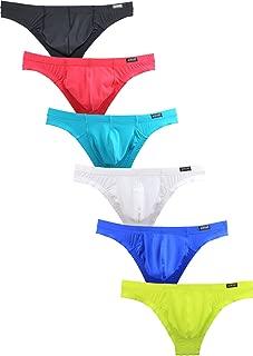 Men's Cheeky Briefs Sexy Low Ries Pouch Mens Underwear
