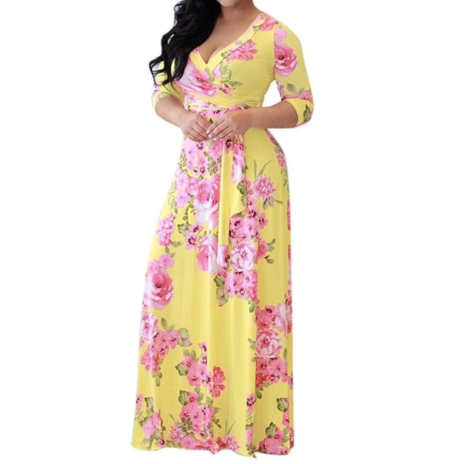 ZEFOTIM ? Women Floral Boho Long Maxi Dress Evening Party Beach Dresses Sundress