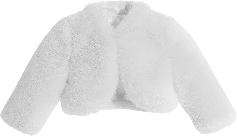 Large-scale sale ekidsbridal Flower Girl Faux Fur Cape Shr Jacket Bolero Cover-Up Daily bargain sale