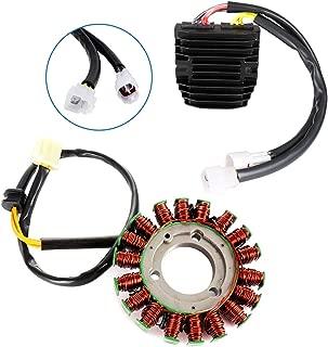 ECCPP Voltage Regulator Rectifier Magneto Generator Engine Stator Coil Kit Fit for 2006-2009 2011-2017 Suzuki GSX-R600 GSX-R750 2016 Suzuki GSX-R600 30 Years 2014 Suzuki GSX-R750 50th Ann. Edition
