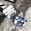 Shark Teeth Camo Softshell Silicone AirPods Pro IMD Case for Apple AirPods Pro 3, Wireless Charging Case Protective Cover and Skin Supreme Girls Boys Women Kids Teens Airpods Pro