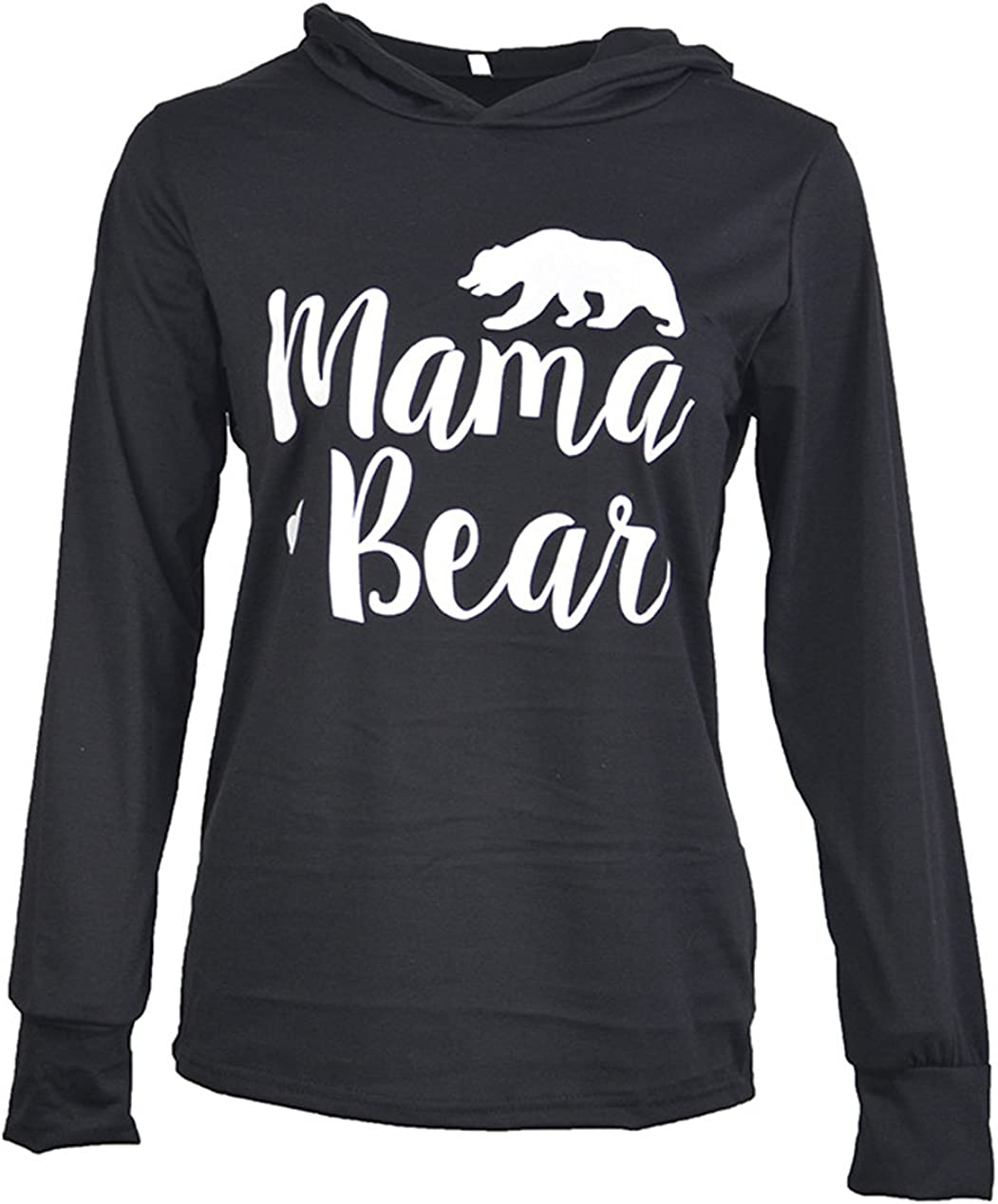 Caat Aycox Womens Mama Bear Printing Hooded Long New products Gorgeous world's highest quality popular Sleeves Casual