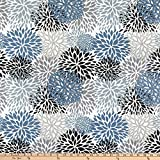 EXCLUSIVE Premier Prints Blooms Cotton Duck Slate Fabric by the Yard
