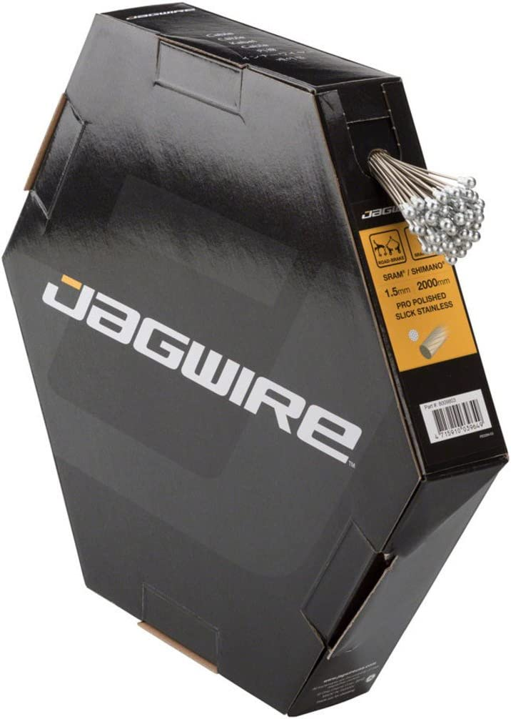 Bombing new Overseas parallel import regular item work Jagwire Pro Brake Cable Stainless Slick Polished 1.5x2000mm