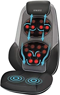 HoMedics ShiatsuMax 2.0 Massageapparaat– Elektrisch Verwarmd Shiatsu Stoelkussen, Schouder, Rug en Bovenbeen, Rollen, Vibr...