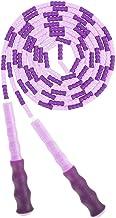 AlfaView Zacht kralen springtouw, verstelbaar segment zonder knopen springtouw voor kinderen Volwassenen Fitness springtou...
