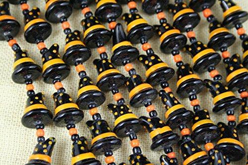 Halloween Cute Witch Hat (w/Dots) Lampwork Glass Beads(Pack of 12 beads) Dots Lampwork Glass Bead
