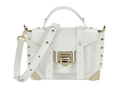 MICHAEL Michael Kors Manhattan Extra Small Top-Handle Crossbody (Optic White) Handbags