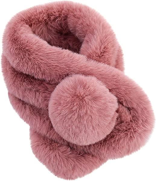Shusuen Womens Faux Fur Collar Shawl Faux Fur Scarf Wrap Evening Cape For Winter Coat