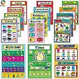 teytoy Meine ersten Lernposter, 15 Stück, laminiertes Vorschulposter für Kleinkinder, Vorschulkindergarten, Kindergärten und Heimschullehrer