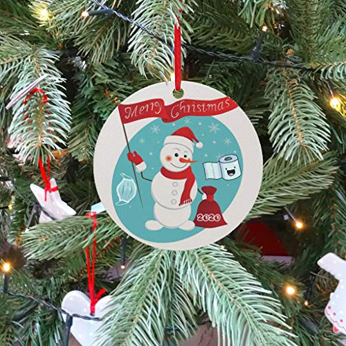 VEFSU 2020 Christmas Ornaments, 3 Inch Cute Elk Snowman Santa Claus Xmas Decorations, Friends Family Home Indoor Outdoor Dress up Hanging 3PCS(J)