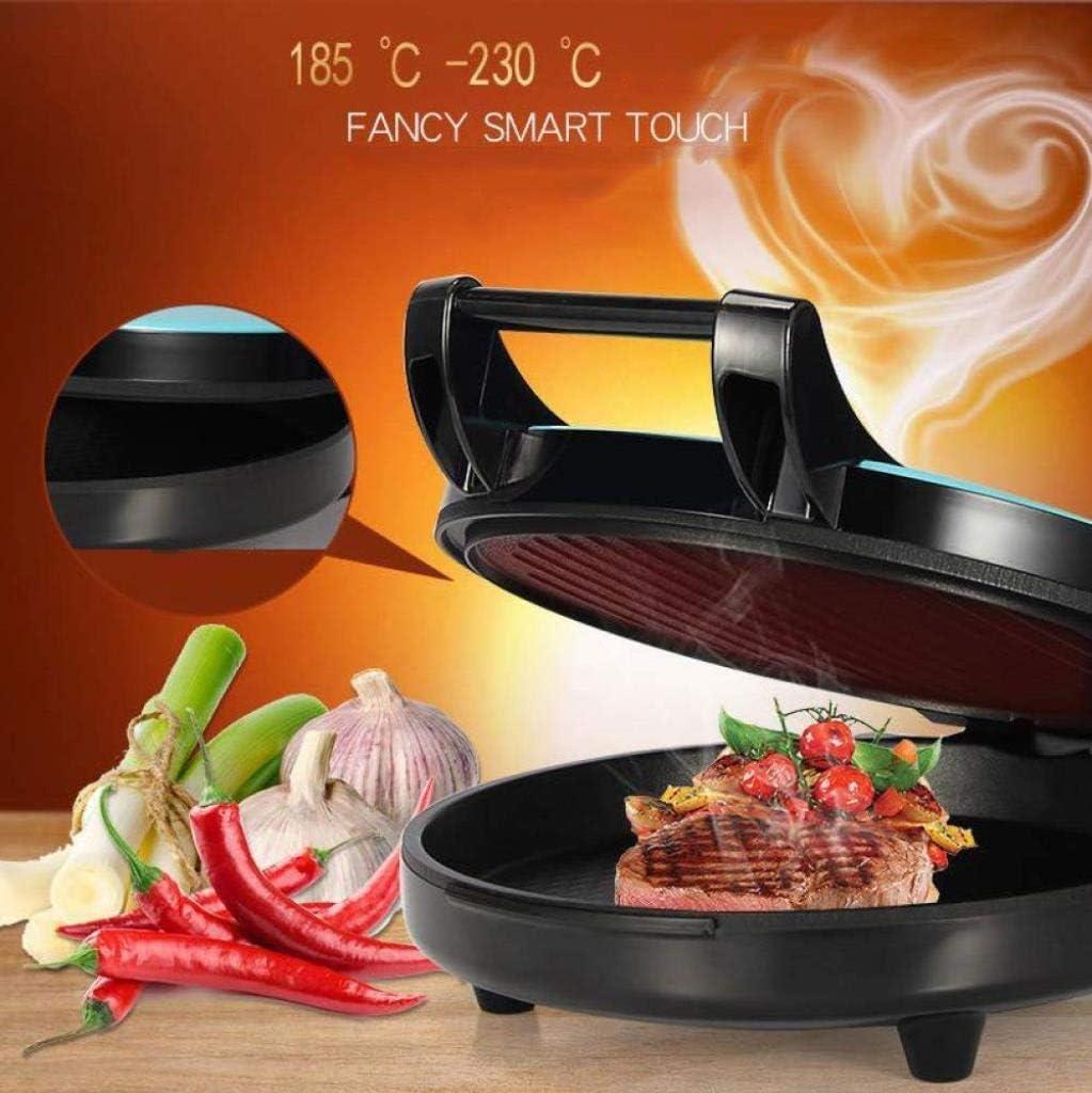 Électrique Teppanyaki Grill Table Hot Plate barbecue for le dîner Kitchen Party Festival du Camping de cuisine double face flottant, 1200W (Color : Red) Blue