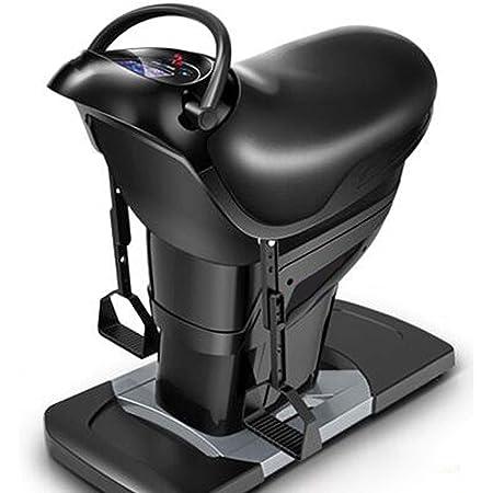 電気乗馬マシンホームフィットネス機器脂肪燃焼と整形乗馬有酸素減量アーティファクト,黒