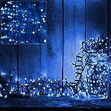 100 LED Lichterkette mit Timer und Leucht-Funktionen Batterie Lichternetz Deko Beleuchtung