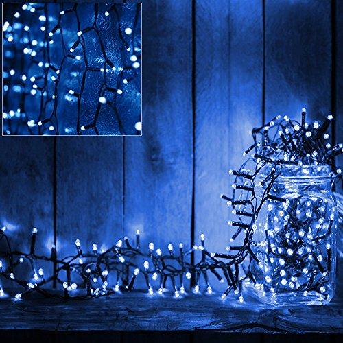 Deuba Guirlande Lumineuses 160 LED décoration Noël - Timer - Contrôle - Bleu