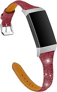 Jennyfly Bracelet de montre compatible avec Fitbit Charge 3/3 SE/Charge 4, bracelet de montre de sport fin de remplacement...