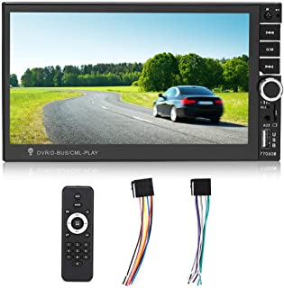 Car MP5, Hands-free Colorful HD Touch Capacitive Car Stereo Video with Built-in Bluetooth + Microphone for FM Function and...