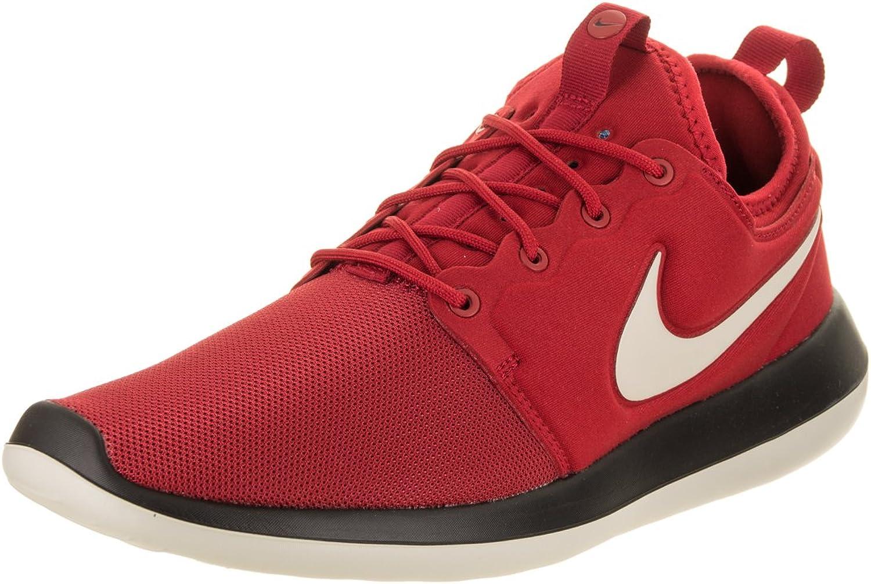 Nike herrar Roshe Two Gym Gym Gym  röd  Pale  grå  svart springaning skor 8 Män i USA  bekvämt