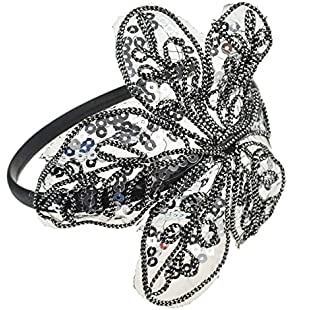 Leaf Spangle Sequin Hair Aliceband - Grey:Tytoftetsi