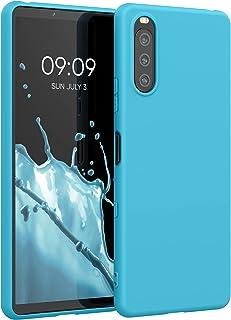 kwmobile telefoonhoesje compatibel met Sony Xperia 10 III - Hoesje voor smartphone - Back cover in zeeblauw