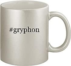 #gryphon - Ceramic Hashtag 11oz Silver Coffee Mug, Silver