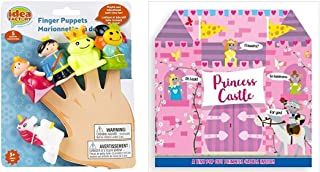 Sunroom Creations Princess or Pirate Finger Puppet Sets and Tiny Pop Out Adventure Book Set (Princess and Prince)