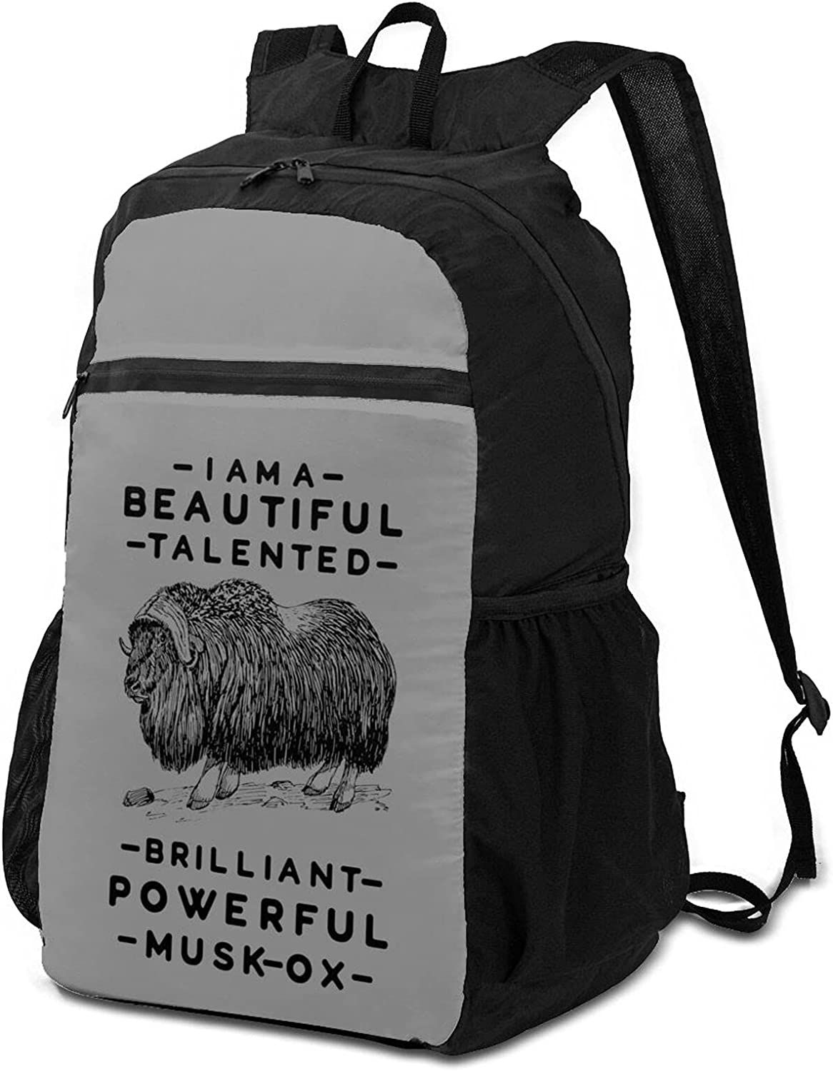 You're Super sale A Beautiful Musk-Ox Hiking Selling rankings Backpack Men Women Lightwe for