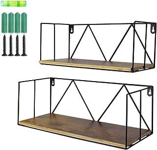 comprar comparacion UMI. by Amazon Estantes flotantes de Madera con Montaje en la Pared para baños, dormitorios, oficinas o cocinas, Pack de 2