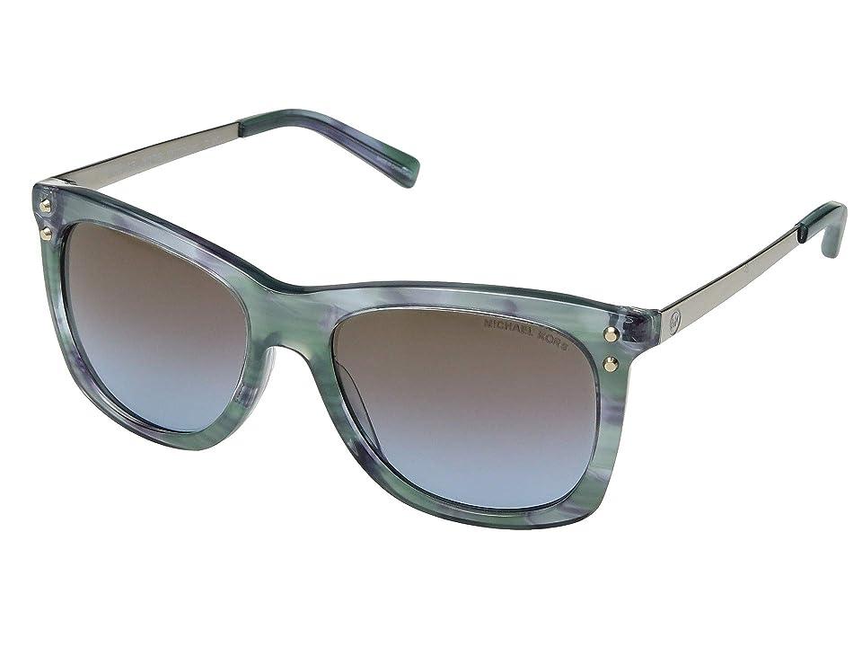 Michael Kors 0MK2046 (Teal Floral) Fashion Sunglasses