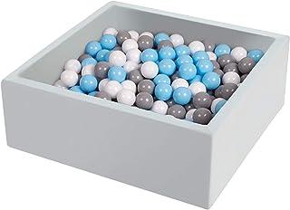 حفرة كرة من تريندبوإكس 35.4x35.4x13.8 بوصة مربعة للرضع الكرة الإسفنجية للحفرة، وحفر كرات داخلية للأطفال الصغار، غير متضمنة...
