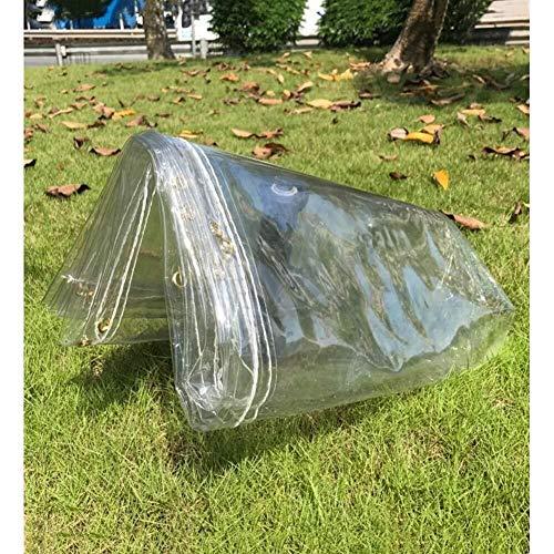 MSF Tentzeilen waterdicht heavy duty buitenshuis banket helder PVC zacht glas tarps regendicht anti-UV-metalen gat, gemakkelijk te repareren, voor auto tuin en buiten