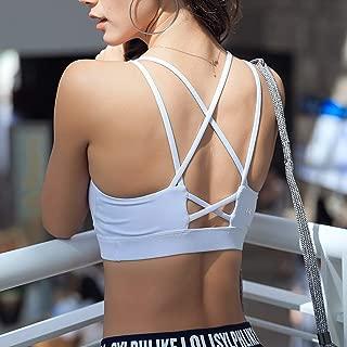 JCXOZ Sports Underwear Running Shock-Proof Gathering Stereotype Yoga Clothing Sports Vest Fitness Bra for Dance Yoga Fitness (Color : White, Size : Xs)