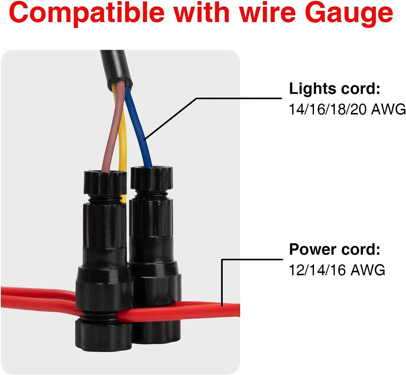 10 Pack Landscape Low Voltage Wire Connector Fast Lock Landscape Lights Cable Connector 12 14 Gauge