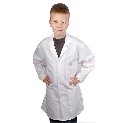 KIDS BOY GIRL WHITE LAB COAT DOCTOR SCIENTIST SCHOOL FANCY DRESS CHILDRENS CHILD
