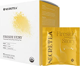 SECRETEA, Fireside story, Organic Taiwanese Dong Ding Oolong Tea, 15 Sachet Tea Bags