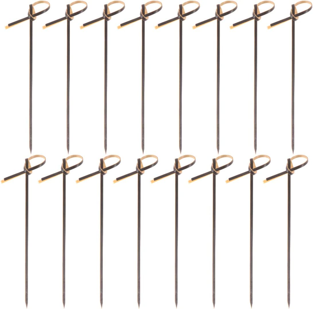 Happyyami 200 Pcs Bamboo Cocktail Picks OFFicial store Knot Natural With Looped New mail order