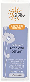 Earth Science Cellagen Renewal Serum with hyaluronic acid & plant-based antioxidants — for anti-aging & wrinkles, 1 oz.